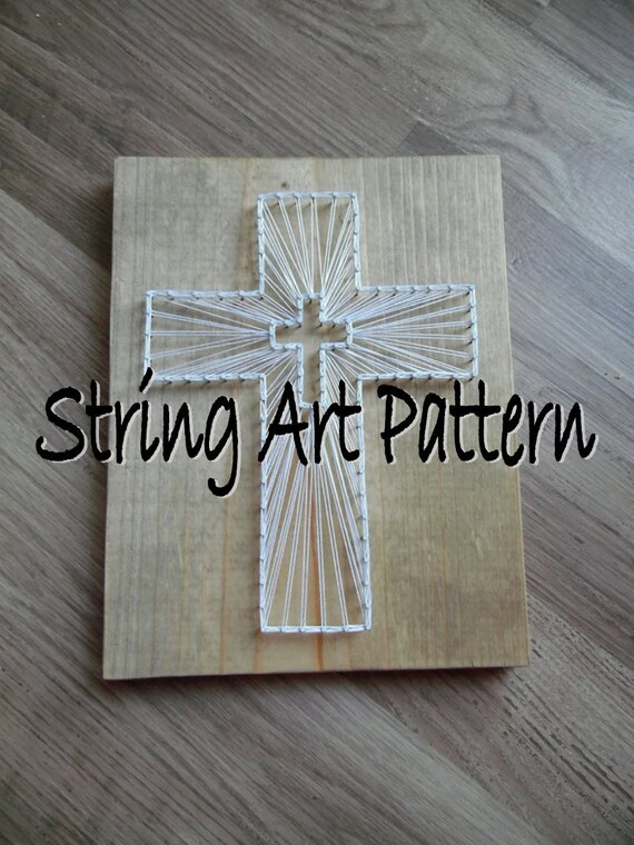 diy cross string art pattern cross string art pattern string. Black Bedroom Furniture Sets. Home Design Ideas