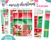 Merry Christmas Weekly Kit // Erin Condren // Printable Planner Stickers // Cut Line Files // Weekly Stickers // Planner Printable