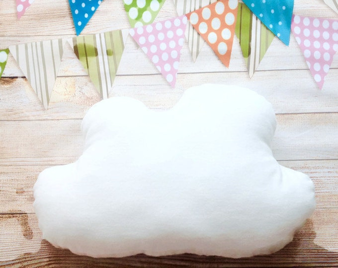Cloud Pillow White, Cloud Plush, Nursery Pillow, Cloud shaped Pillow, Baby Shower Gift, Sewn Toys