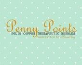"Penny Points 4"" Size 1 Bronze DPNs"