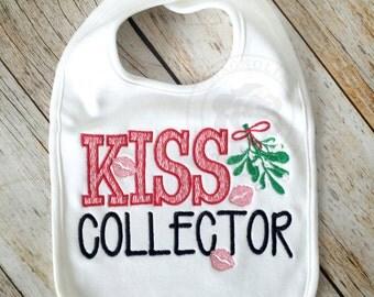 Christmas Baby Bib, Christmas Bib, Baby Shower Gift, Monogram Baby, Monogrammed Baby, Holiday Baby Gift