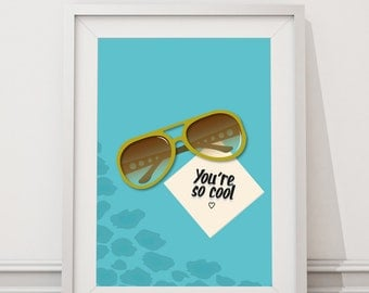 True Romance - You're So Cool Quote Minimal Style Poster Print