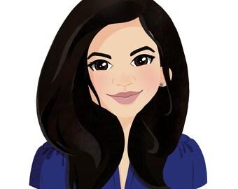 Custom stylised portrait illustration (digital)