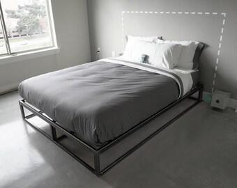 Modern Steel Bedframe - queen