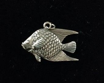 Lrementz sterling silver angel fish pendant.