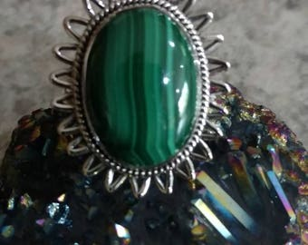 Malachite Ring Size 7