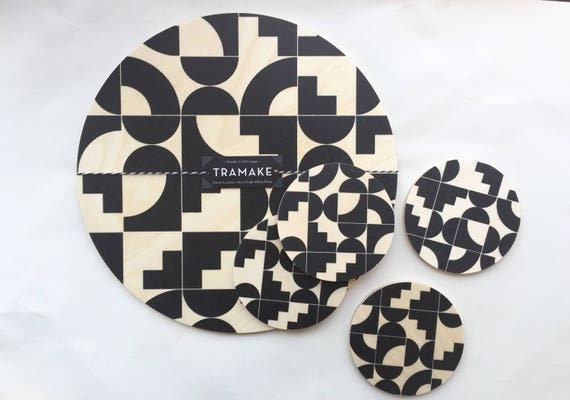 SHAPES wood trivet
