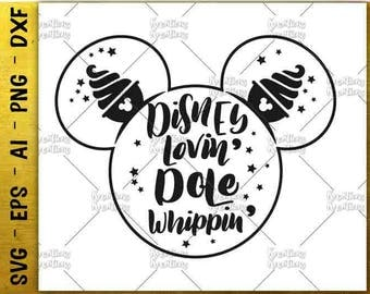 Disney lovin dole whippin SVG dole whip SVG hand drawn design cut cuttable cutting files Cricut Silhouette Instant Download  SVG png eps dxf
