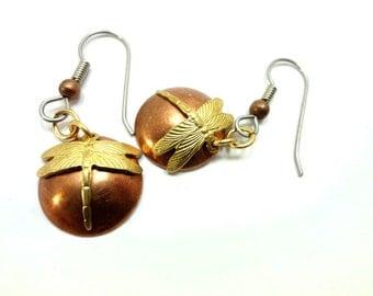 Steampunk Earrings - Dragonfly - Steam Punk Jewelry