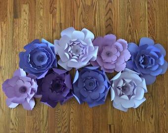 Large Wall Paper Flowers ~ Paper Flower Backdrop ~ Paper Flower Decor ~ Wedding/Shower/Nursery Decoration