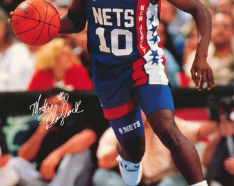 Mookie Blaylock New Jersey Nets 1990  Poster