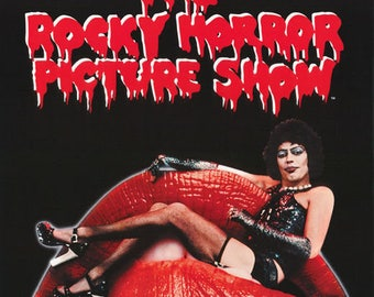 Rocky Horror Picture Show Tim Curry 25th Anniversary Rare Vintage Poster
