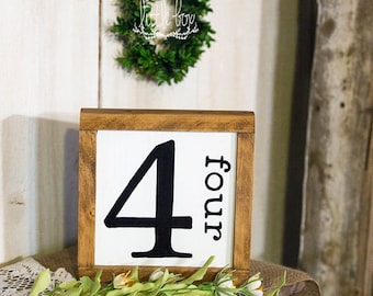 Table Number / Wall Collage Number Sign / Wedding Decor / Table Decor / Party Decor / / Table Number Wedding / Table Decoration /