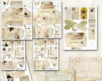 Loaded Envelope, By the Sea, Digital, Travel Vintage, DIY, ephemera, envelope swap, tag, scrapbooking, U Print, card, tag, coin envelope