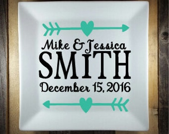 Custom Wedding Plate, Personalized Ceramic Plate, Custom Plate, Custom Personalized Plate, Quote Plate, Sayings Plate, Decorative Plate