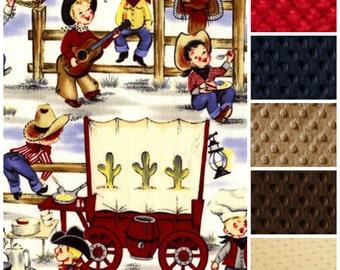 Baby Boy Blanket,Baby Blanket,Cowboy Baby Blanket,Western Baby Blanket,Toddler Boy Blanket,Rodeo Baby Blanket,Boy Minky Blanket,Baby gift