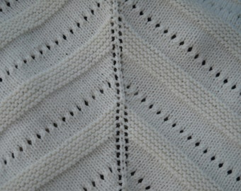 Shawl has cream colored fringe with beautiful wool. You'll be warm this winter. Ready to go.