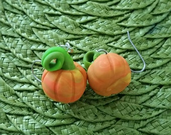 Pumpkin earrings