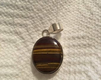 Hand made Tiger's eye pendent