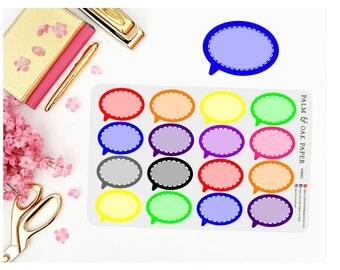 Conversation Bubble Planner Stickers - Perfect for ECLP - Plum Paper - Speech Bubble - Convo Stickers - Bubble Planner Stickers - FUN003