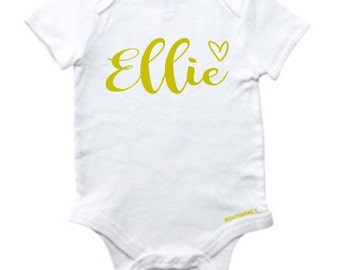 What's In A Name - Baby Girl Outfit - Baby Girl Onesie - Personalized Baby Girl Outfit
