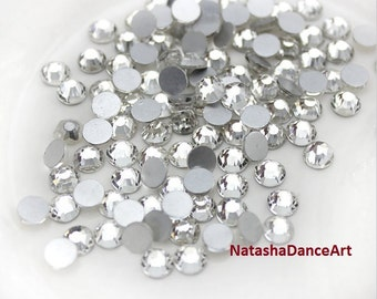 72 pcs -144 pcs Crystal Clear Rhinestone flat back crystal available in ss16 ss20 4mm 5mm