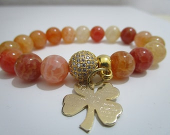 Dragon veins agate bracelet, Agate bracelet, natural stone bracelet, Womens jewelry, Bracelet, Gift, Gift for women, Stones bracelet, Women