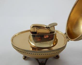 Vintage Evans Egg Lighter Gold Color Working