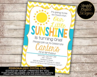 My Little Sunshine Birthday Party Invitation