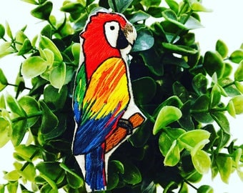Parrot Handmade Brooch