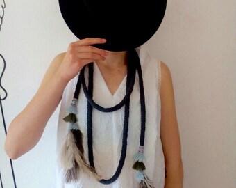 FREE SHIPPING / Boho Necklace / Hippie Style / Handmade Necklace / Gift Idea by Fabra Moda Studio / A917