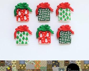 Christmas Present Fridge Magnet Set