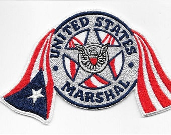 US Marshal Service USMS Puerto Rico San Juan Field Office Fugitive Task Force Flag Patch