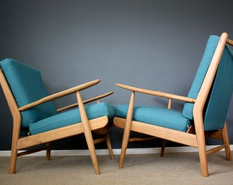 SOLD: Mid Century Scandart Chairs Retro Vintage Wegner Danish Style 50s 60s 70s