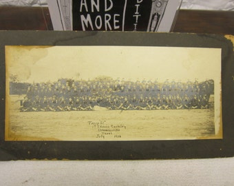 Vintage WW1/WWI 1916 Cavalry Photo With All Names and Numbers Texas