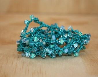 Beaded Crochet Bracelet -  Wrap Bracelet - Bead Crochet - Beaded Bracelet - Beadwork Bracelet - Crochet Jewelry - Bead Bracelet