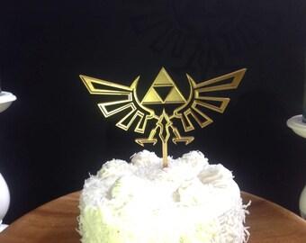 Zelda Hyrule Crest Triforce Cake Topper