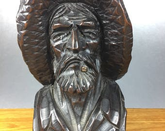 Carved Old Seaman Bust