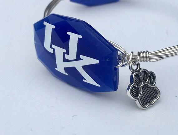 Kentucky bangle bracelet, UK bangle, University of Kentucky jewelry, Wire wrapped bangle, wire wrapped bracelet, Cats Paw Bracelet