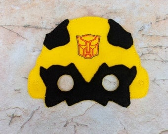 Mask bumblebee transformer.Embroidered mask