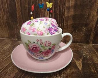 Tea cup Pin-cup