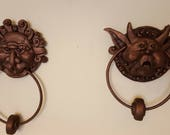 Lybrinth Door knockers - Right and Left in copper and patenia finish
