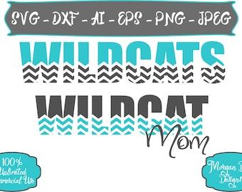 Wildcat Mom SVG - Basketball SVG - Baseball SVG - Football svg - Soccer svg - Wildcats svg - Files for Silhouette Studio/Cricut Design Space