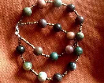 African Jasper Tribal Beaded Bracelet