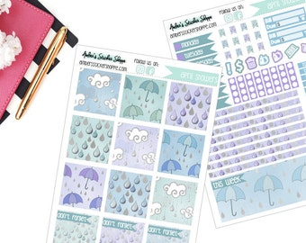 April Showers Weekly Kit for Mini Happy Planner