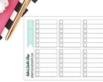 Square Checklist Boxes for Regular HP Planner Stickers