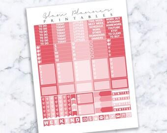 Printable Planner Stickers: 21 (Erin Condren Life Planner PDF)