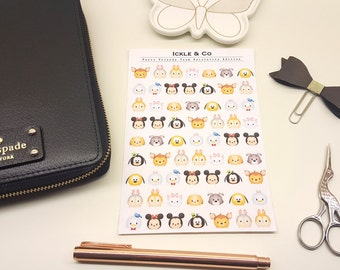 GLOSSY / PREMIUM MATTE  Furry Friends Tsum Tsum Planner Stickers Decorative Edition