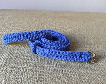 Belt blue crochet / Blue crochet belt