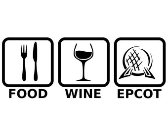 Disney's Epcot Food and Wine Festival - svg files
